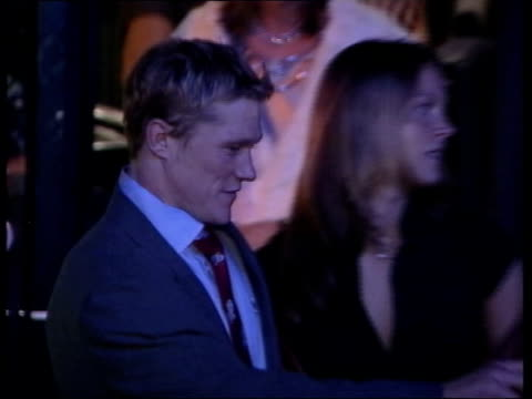 Victory party at Buckingham Palace and reception at Downing Street Battersea Park England coach arriving at evening venue CMS Josh Lewsey signing...