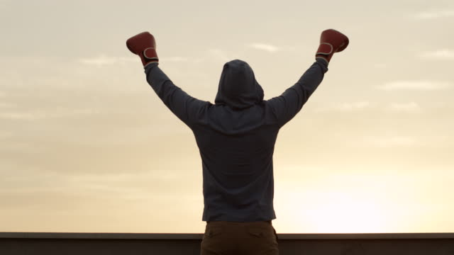 victory! - boxing stock videos & royalty-free footage