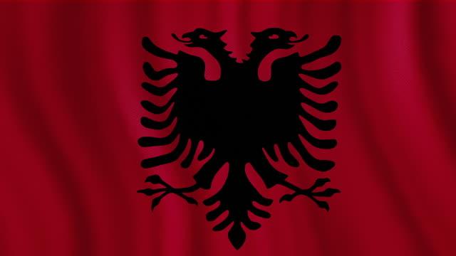 4 K Video : Albanien winken Flagge