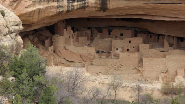 HD video Ancestral Pueblo ruins in Mesa Verde NP Colorado