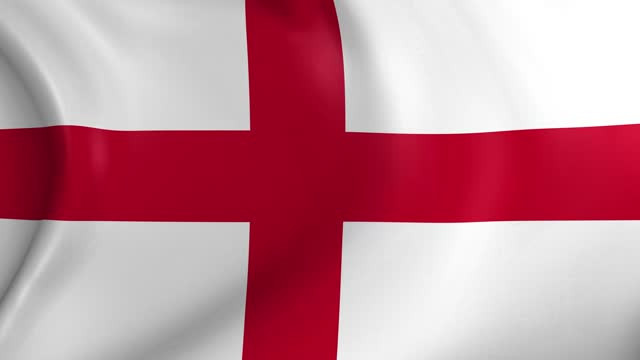video animation of england flag, slow motion closeup waving in the wind. - politics and government stock videos & royalty-free footage