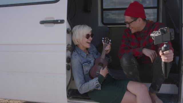 Video Blog in a Van