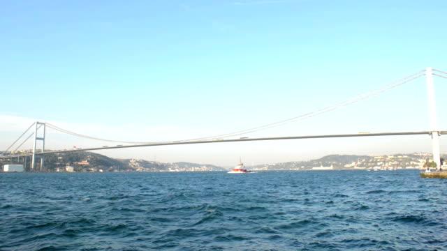 vídeos y material grabado en eventos de stock de hd video: puente del bósforo en istanbul - estrecho de bósforo