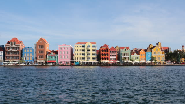 4k video cityscape of willemstad, netherlands antilles, curacao - caribbean sea stock videos & royalty-free footage