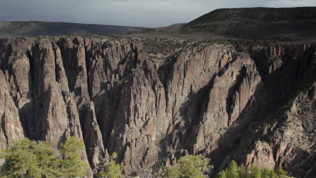 hd video cliffs black canyon of the gunnison np colorado - schist stock videos and b-roll footage