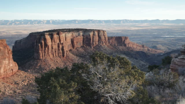 HD video Colorado National Monument cliffs and canyons