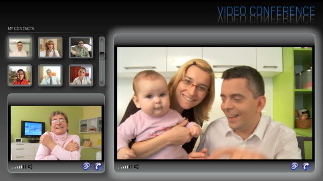 hd-montage: videokonferenz - montage composite technik stock-videos und b-roll-filmmaterial