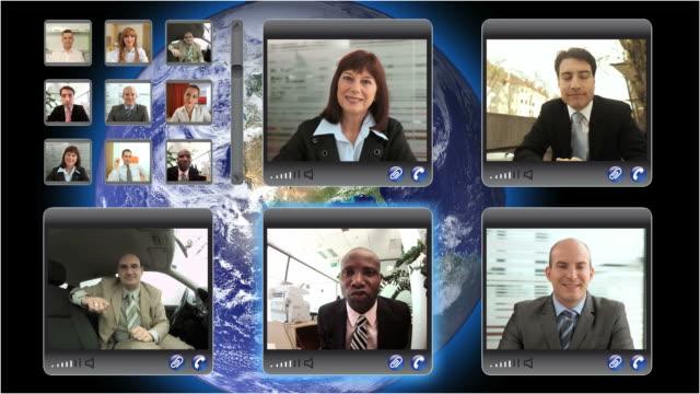 vídeos y material grabado en eventos de stock de hd montaje: vídeo para conferencias - pantalla dividida