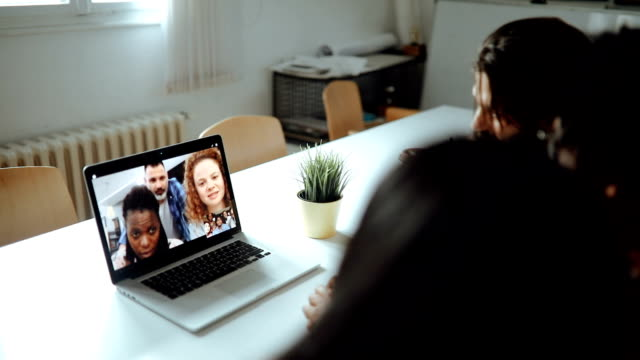 video conference - voip stock videos & royalty-free footage