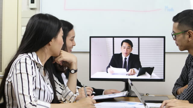 ビデオコンファレンス - カンファレンス点の映像素材/bロール