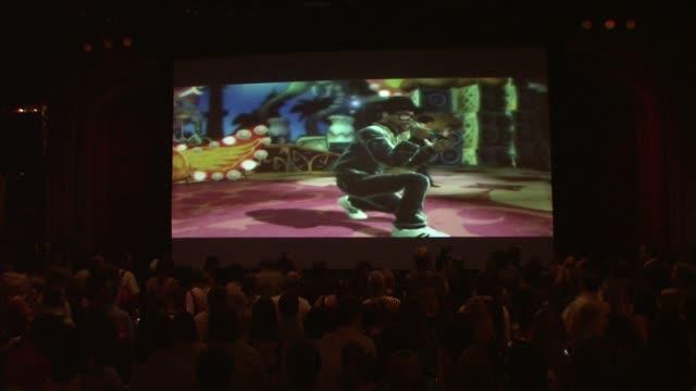 video entertainment at the aerosmith launches new guitar hero at new york ny. - エアロスミス点の映像素材/bロール