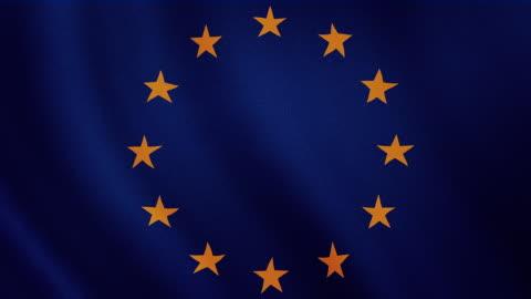 vídeos y material grabado en eventos de stock de 4 k video : bandera europea de saludar con la mano - europa continente