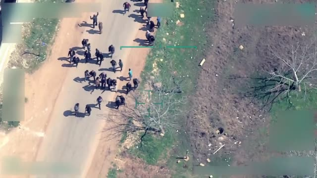 a video filmed by a turkish armed forces' drone revealed that several trenches dug by ypg/pkk are hindering civilians from leaving the city center of... - kurdistan workers party stock videos & royalty-free footage