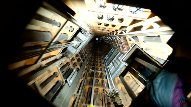 video footage of a elevator shaft - hoisting stock videos & royalty-free footage