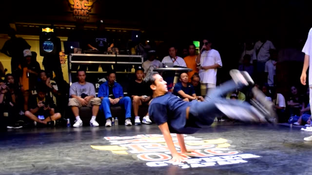 Video footage shows top Japanese breakdancers vying against each other during an event at Kanemori Hall in Hakodate Hokkaido The female and male...