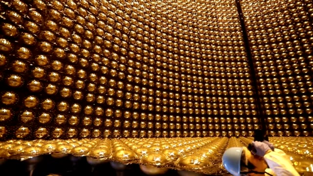 video footage take on sept. 9 shows the interior of the super-kamiokande neutrino detector in hida, gifu prefecture, during the tour of the facility... - 12 13 years stock videos & royalty-free footage