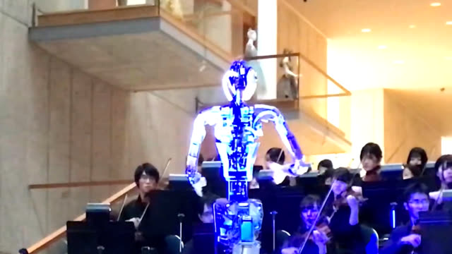 video footage taken at a feb. 28 demonstration at the new national theater, tokyo, in the hatsudai district of shibuya ward shows a live orchestra... - human mouth stock videos & royalty-free footage