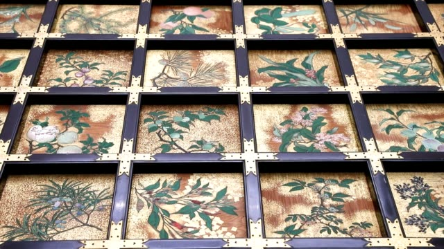 Video footage taken at the Kyushu National Museum in Dazaifu Fukuoka Prefecture shows decorative panels formerly on show at the earthquakedamaged...