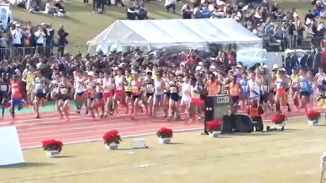 video footage taken from the air and from the ground on dec 2 shows runners taking part in the men's fukuoka international open marathon championship... - the open championship stock-videos und b-roll-filmmaterial