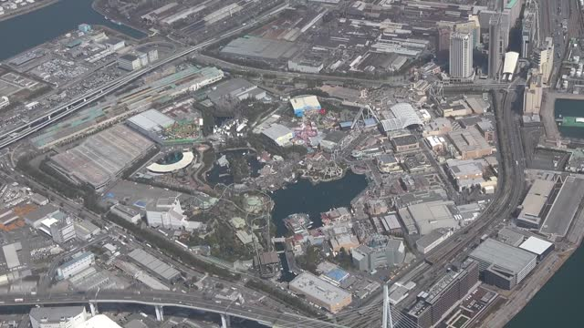 video footage taken in konohana ward of osaka gives an overview of the universal studios japan theme park on the 20th anniversary of its opening on... - 記念日点の映像素材/bロール