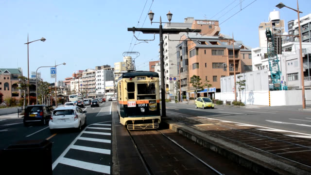 Video footage taken in Nagasaki on March 30 shows train enthusiasts bidding a wistful farewell to three streetcars operated by Nagasaki Electric...