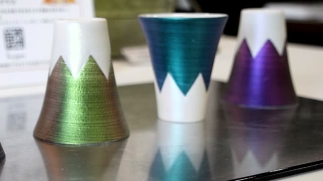 video footage taken in the famed pottery town of arita in saga prefecture shows shot glasses designed to evoke japan's most famous landmark being... - mt fuji stock videos & royalty-free footage