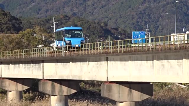video footage taken on dec. 15 in kaiyo, tokushima prefecture, shows a dual mode vehicle , operated by asa seaside railway corp., changing from its... - two objects stock videos & royalty-free footage