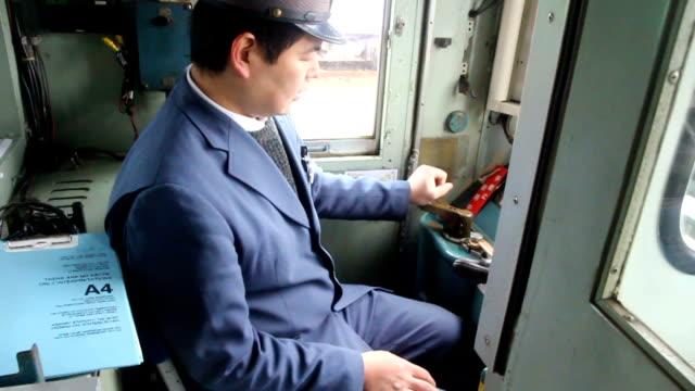 video footage taken on feb 11 in fukuchi fukuoka prefecture shows a train aficionado being taught how to operate a kiha 2004 series dieselengine... - kanada stock videos & royalty-free footage