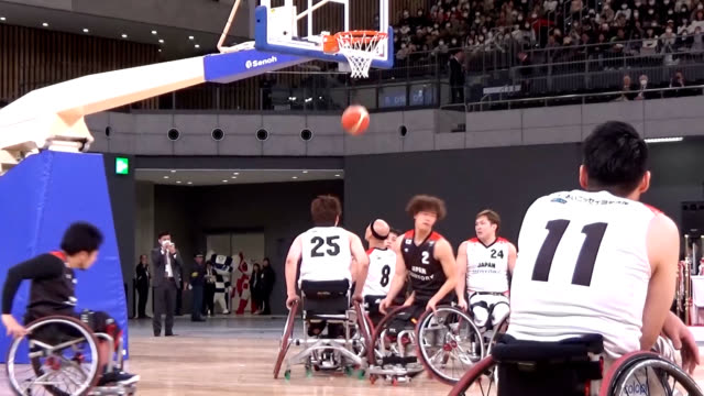 video footage taken on feb. 2 shows traditional performers, a wheelchair basketball demonstration and a show of volleyball attended by a crowd of... - volleyball sport stock videos & royalty-free footage