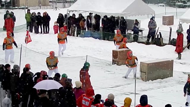 "video footage taken on jan 26 in miyoshi tokushima prefecture shows teams battling each other in a ""yukigassen"" snowball fight event held at a hot... - tokushima prefecture stock videos & royalty-free footage"