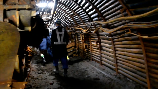 video footage taken on july 13 shows a mine shaft exhibition at the yubari coal mine museum in yubari, hokkaido, about 15 months after a fire and... - mine shaft stock videos & royalty-free footage