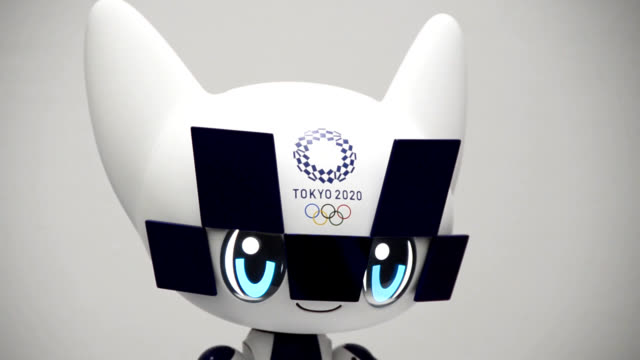 stockvideo's en b-roll-footage met video footage taken on july 18 at a demonstration event held in tokyo shows robots developed by toyota motor corp for use during the 2020 tokyo... - toyota motor