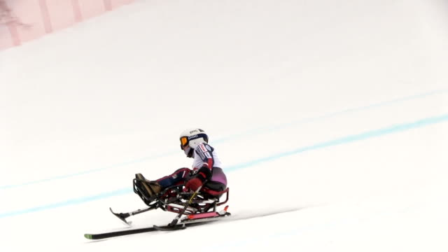 Video footage taken on March 6 Japan during the World Para Alpine Skiing World Cup event held in Hakuba Nagano Prefecture shows Japanese competitors...