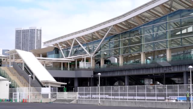 video footage taken on march 9 shows members of the press touring the new takanawa gateway station that is set to open its gates to the public on... - building feature stock videos & royalty-free footage