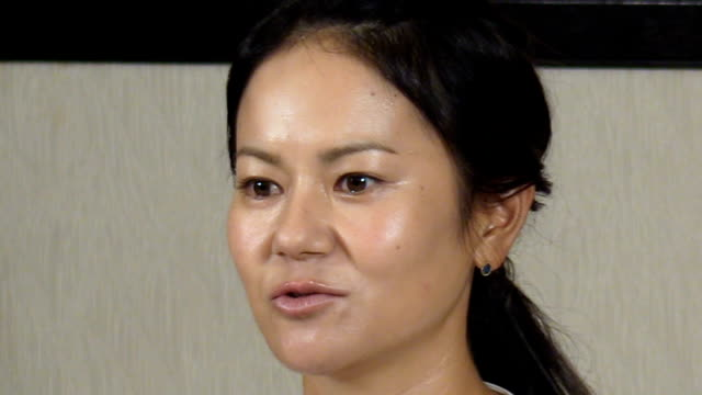 Video footage taken on May 29 shows Ai Miyazato who became the first Japanese female professional golfer to top the world ranking in 2010 speaking...