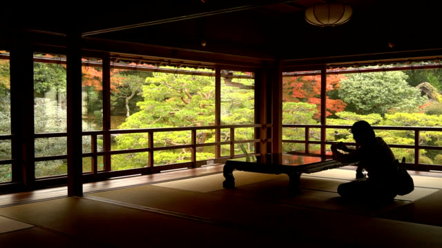 stockvideo's en b-roll-footage met video footage taken on nov 25 shows the garden surrounding the former chikurinin temple designated as a cultural asset by otsu shiga prefecture... - former