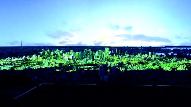 vídeos y material grabado en eventos de stock de video footage taken on oct. 9 at the newly established mori building urban lab research facility in the roppongi district of tokyo's minato ward... - realidad aumentada espacial