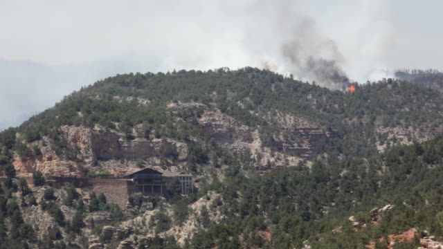 HD Video forest fire burns in Colorado Springs