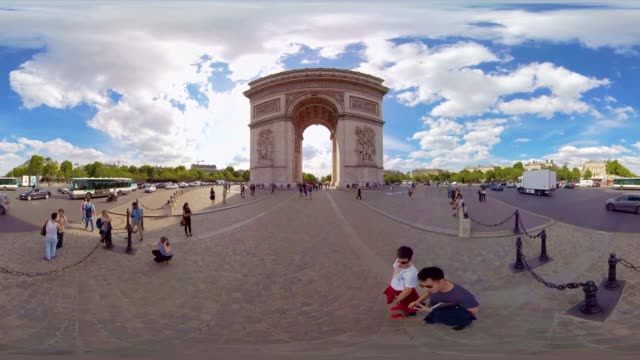 A 360VR video from the Arc de Triomphe Paris France