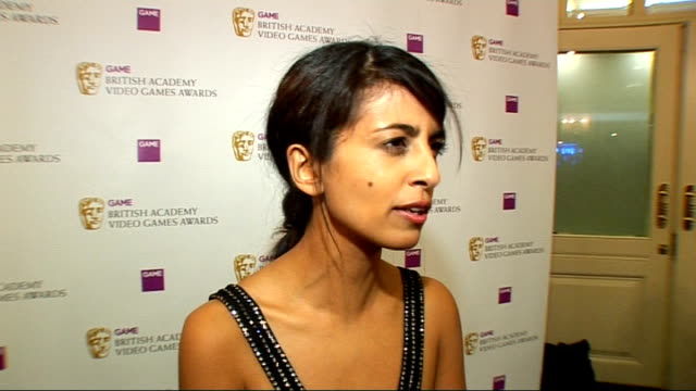 video game awards: arrivals; konnie huq interview sot - on gaming / on what games she likes - television game show stock videos & royalty-free footage