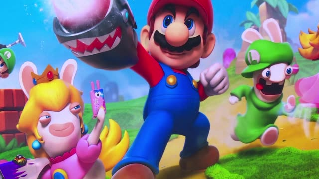 Video game giants Ubisoft and Nintendo team up to put their respective stars Raving Rabbids and Mario together in a new role playing adventure