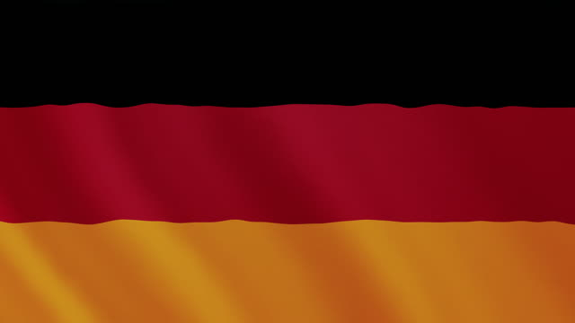 4-k video : germany waving flag - german culture stock videos and b-roll footage