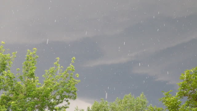 hd video hail stones fall over denver colorado - weather stock videos & royalty-free footage