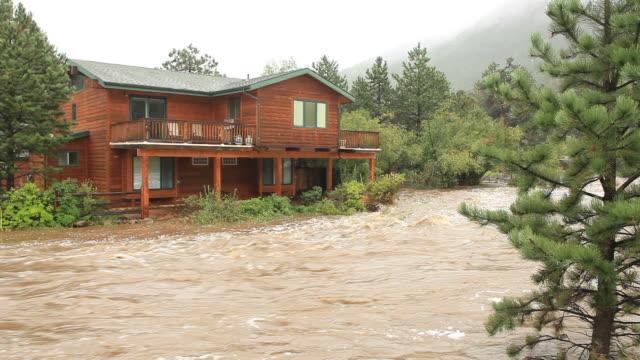 hd video home flooding estes park colorado - flood stock videos & royalty-free footage