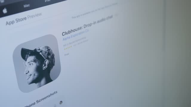 video illustration of clubhouse. clubhouse is a social media platform based on live audio conversations. - country club stock videos & royalty-free footage