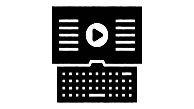 stockvideo's en b-roll-footage met video interview line drawing & ink splatter animatie met alpha - interactief