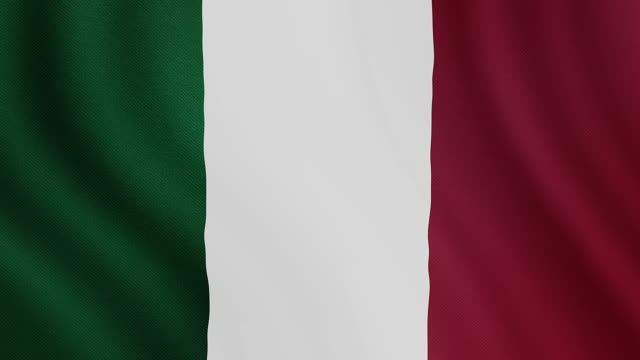 4-K Video : Italy waving flag
