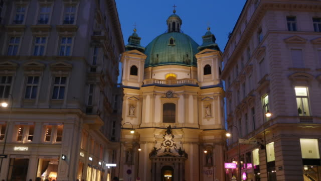 4k video -  kirche st. peter vienna timelapse - kirche stock videos and b-roll footage