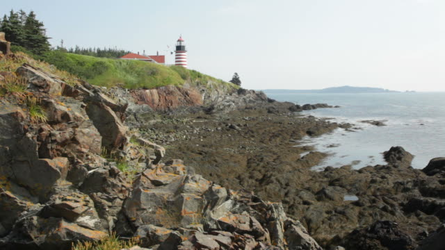 HD video Light house Quoddy Head State Park Maine