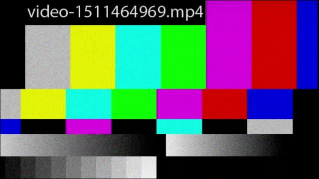 video malfunction - test pattern stock videos & royalty-free footage